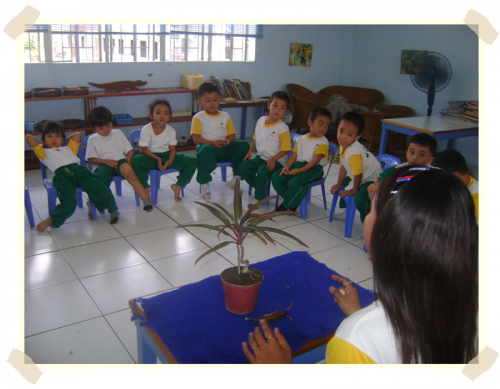 Our pre-school students learn how to take care of plants