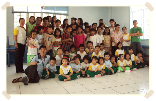 All teachers and some of our students at the pre-school classrom
